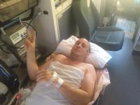 Депутат из Запорожской области поделился фото с больничной койки
