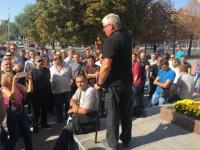 Активисты снова собираются на митинг под мэрию из-за драки инвалида АТО с маршрутчиком