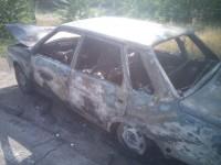 Под Запорожьем дотла сгорела легковушка (Фото)