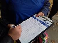 В Запорожской области местный житель вызвал полицию к палатке «Оппоблока»