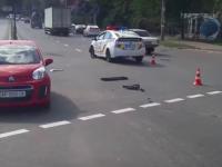 Опубликовано видео аварии, в которой патрульный «Приус» влетел в легковушку