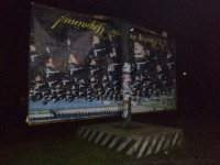 В Запорожской области ураганный ветер повредил рекламный щит