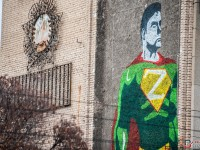 На стене многоэтажки появилось изображение супергероя «Z-мена» (Фото)