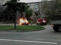 Авто загорелось  во время езды после ремонта – подробности