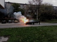 В Запорожье на ходу загорелась легковушка (Фото)