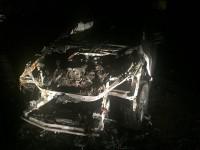 "В центре Запорожья переселенцу сожгли ночью ""Audi Q7"" (Фото, Видео)"