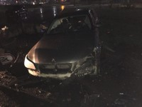 На запорожской Набережной водитель BMW врезался в бетонное ограждение
