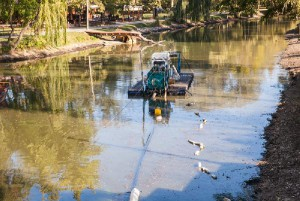Из большого озера в «Дубовой рощи» достали несколько десятков тонн мусора