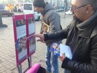 В центре Запорожья раздавали иконы с изображением Саакашвили (Фото)
