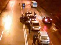 В Запорожье возле стадиона столкнулись сразу 6 авто
