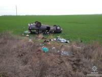 На запорожской трассе перевернулся Merсedes – есть погибшие
