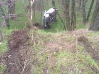 На Хортице легковушка слетела в кювет – есть пострадавшие (Фото)