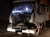 Опубликованы фото с места ДТП грузовика с тягачом, перевозившим танк