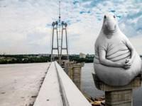 Запорожские недостроенные мосты продолжают разрушаться