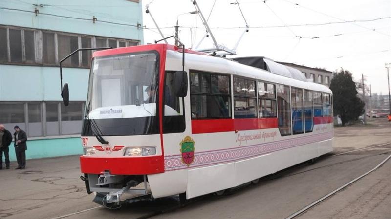 Четвертый трамвай, сделанный вЗапорожье, сегодня выходит налинию
