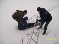 Житель Запорожской области уснул посреди замерзшей реки