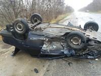 В Запорожской области перевернулась легковушка – пострадала беременная женщина (Фото)