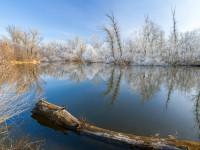 Зимнее утро на Хортице: запорожский фотограф поделился завораживающими фото