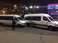 В центре Запорожья маршрутки не поделили дорогу (Фото)