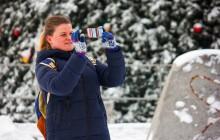 За сутки в Запорожье выпала почти половина месячной нормы снега