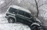 Запорожанка на УАЗе вылетела с дороги