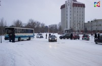 Автобус ЗАЭС угодил в аварию на заснеженной дороге