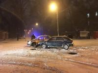 В центре Запорожья столкнулись два таксиста (Фото)