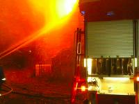 Под Запорожьем сгорел склад с автозапчастями