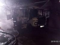 На запорожском курорте сгорел грузовой микроавтобус