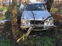 На запорожской трассе бросили  разбитый «Мерседес» на «евробляхах» (Фото)