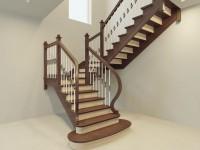 Деревянная лестница для дома – природное совершенство