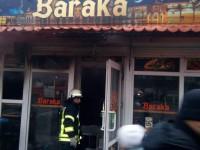 В центре Запорожья сгорел киоск с шаурмой