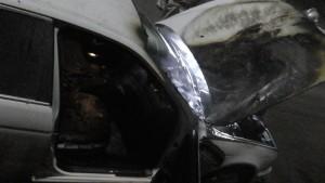 Предпринимателю из Запорожской области подожгли авто (Фото)