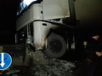 В Запорожской области фура влетела в бетонный отбойник на неосвещенном мосту