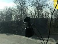 На запорожской трассе перевернулся на бок грузовик компании по перевозкам