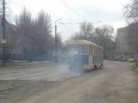 В Запорожье на ходу задымился трамвай с пассажирами