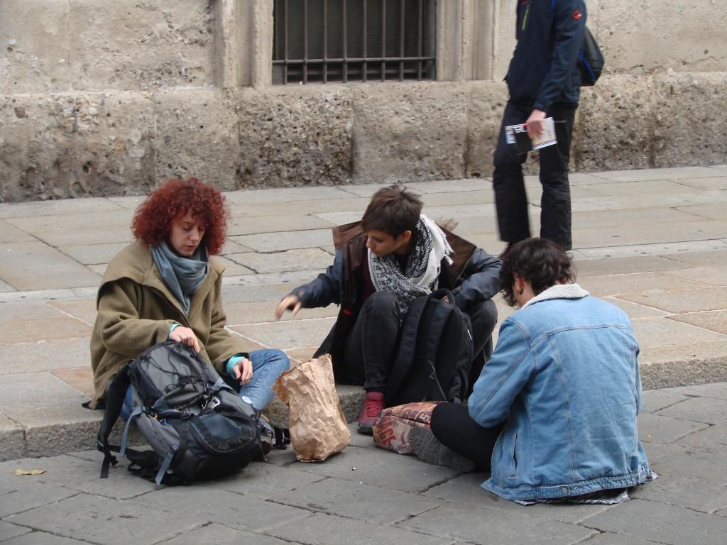 Местные жители Милана