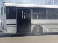 В центре Запорожья на ходу задымился пассажирский автобус (Видео)