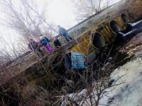 Жители села под Запорожьем утопили в речке два новых мусорных бака (Фото)