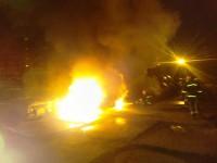 В Запорожской области на автостоянке сгорели три маршрутки