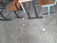 На студентов ЗНУ во время зачета обвалилась штукатурка (Фото)