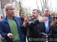 В центре Запорожья активисты вышли защищать парк Яланского от вырубки