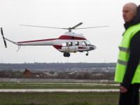 «Надія» в небе: в Запорожье испытали первый украинский вертолет (Фоторепортаж)