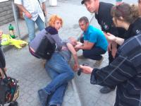 «Лайкнул в лицо за антиукраинский комментарий»: На марше «Азова» в Бердянске ударили зеваку