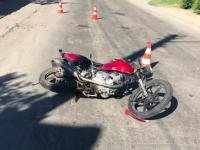 В Запорожье погиб мотоциклист (Фото 18+)
