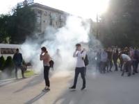 Опубликовано видео момента взрыва на акции ЛГБТ под запорожской мэрией