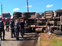 На Верхней Хортице перевернулся неуправляемый грузовик (Фото)