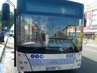 В центре Запорожья новый коммунальный автобус врезался в грузовик с алкоголем (Фото)