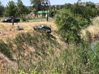 На соревнованиях в Запорожской области гонщика от падения в реку спасло дерево