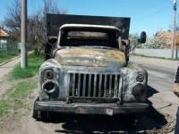 В Запорожской области горел грузовик: спасатели предотвратили взрыв газа